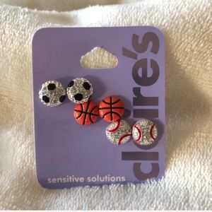Claire's Sensitive Solutions Earring set of 3